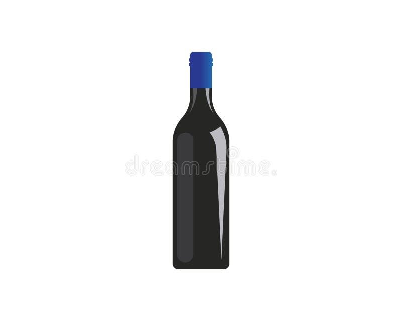 progettazione dell'illustrazione di vettore dell'icona di logo della bottiglia di vino royalty illustrazione gratis