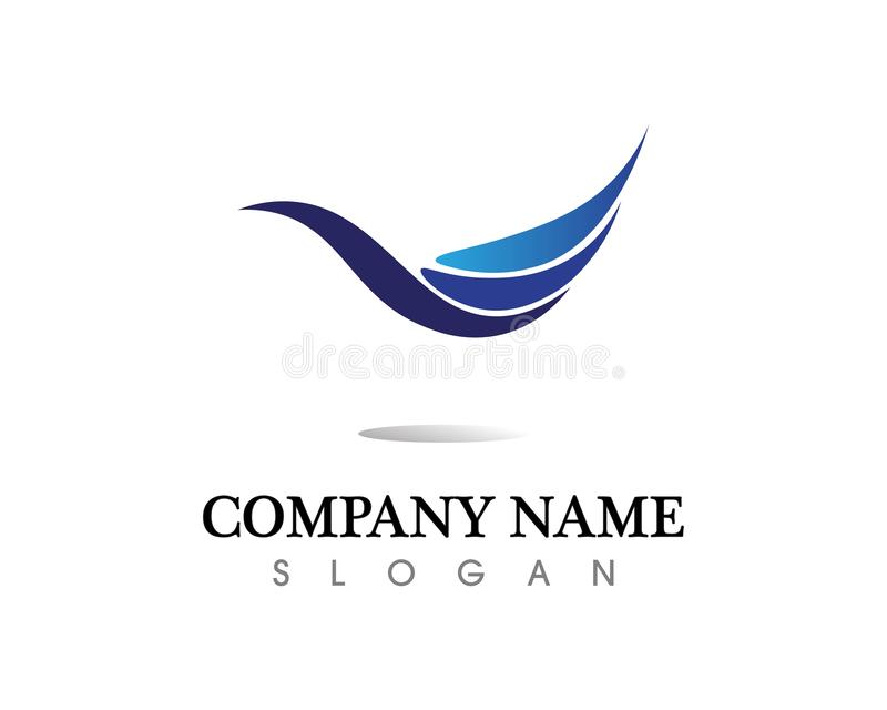 Progettazione dell'illustrazione di vettore di Logo Template della goccia di acqua royalty illustrazione gratis