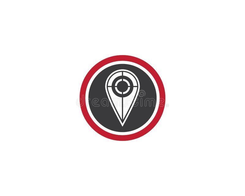 Progettazione dell'illustrazione dell'icona di vettore del modello di logo del punto di posizione illustrazione di stock