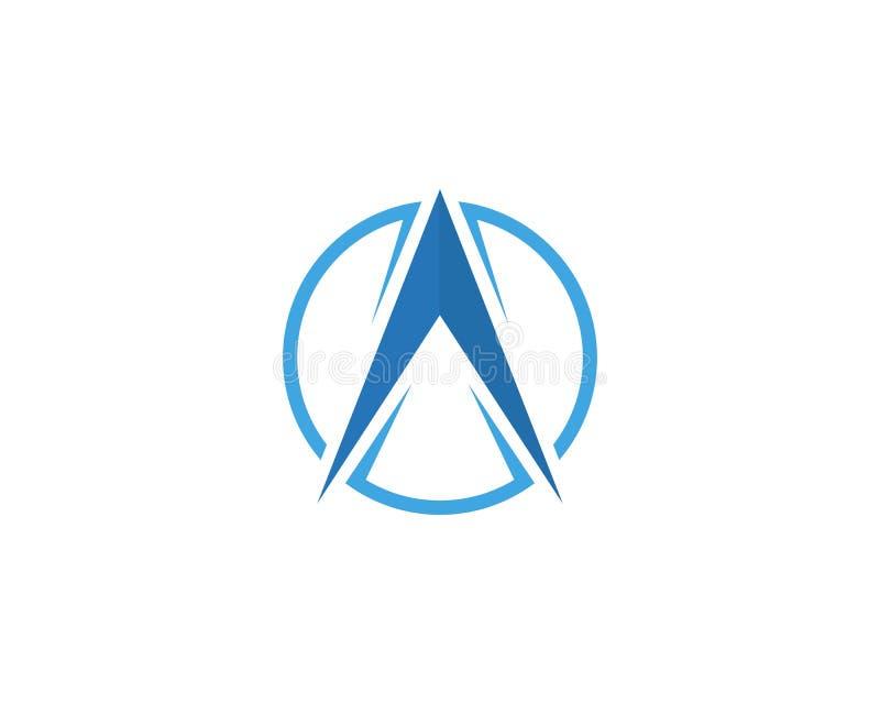 Progettazione dell'illustrazione dell'icona di vettore di Logo Template della bussola illustrazione di stock