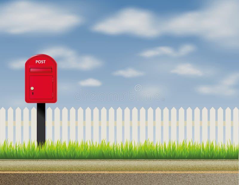 Progettazione dell'inglese astratto, cassetta della posta BRITANNICA, cassetta delle lettere illustrazione di stock