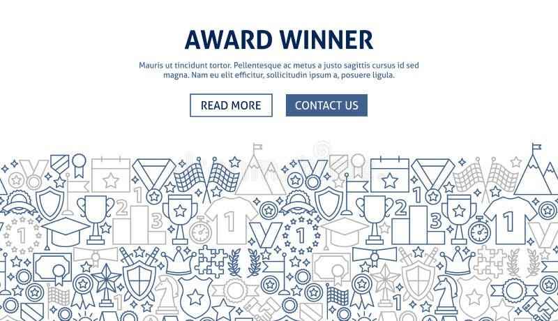 Progettazione dell'insegna del premio royalty illustrazione gratis