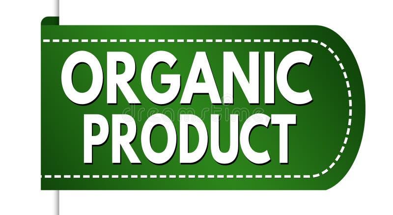 Progettazione dell'insegna del prodotto biologico royalty illustrazione gratis