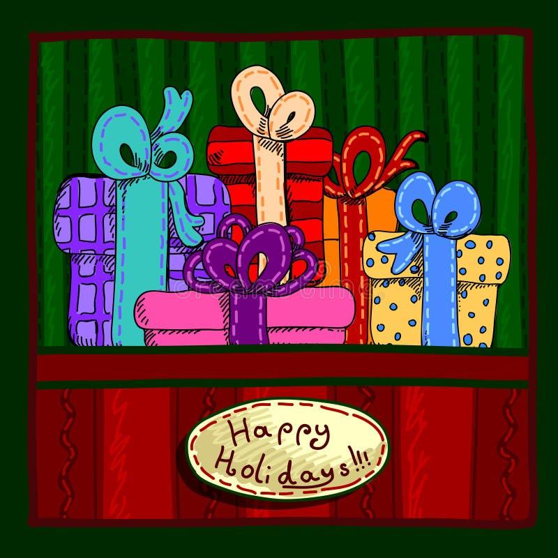 Progettazione dell'insegna di Natale royalty illustrazione gratis