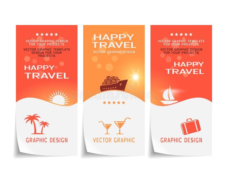Progettazione dell'insegna di viaggio royalty illustrazione gratis