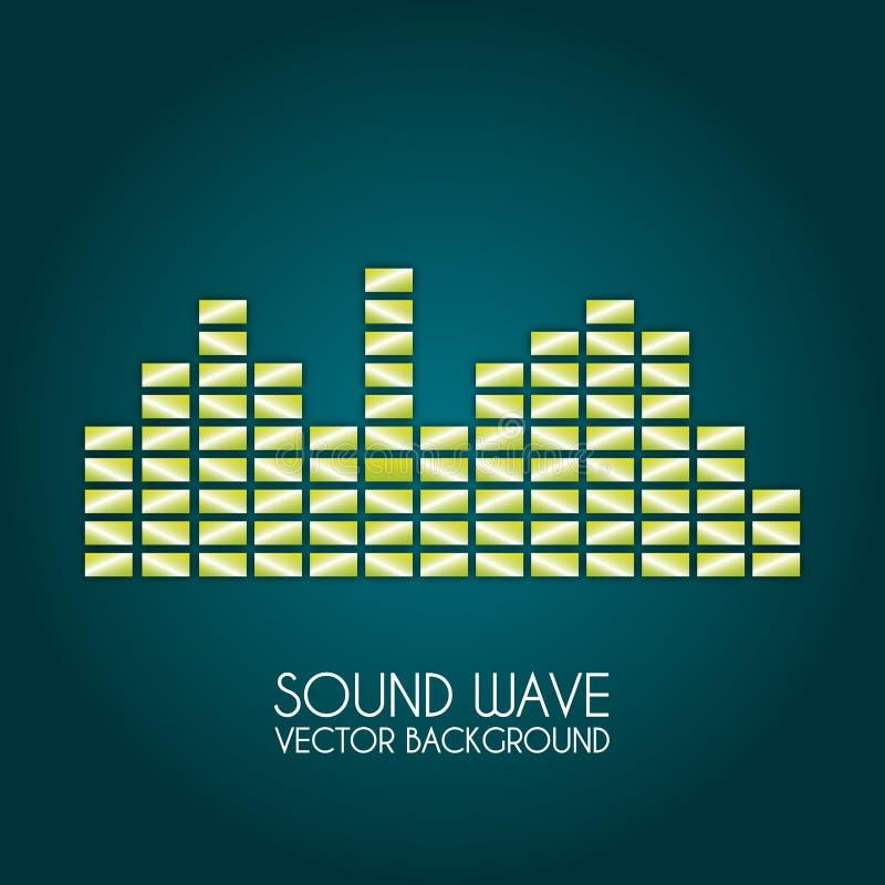 Progettazione dell'onda sonora royalty illustrazione gratis