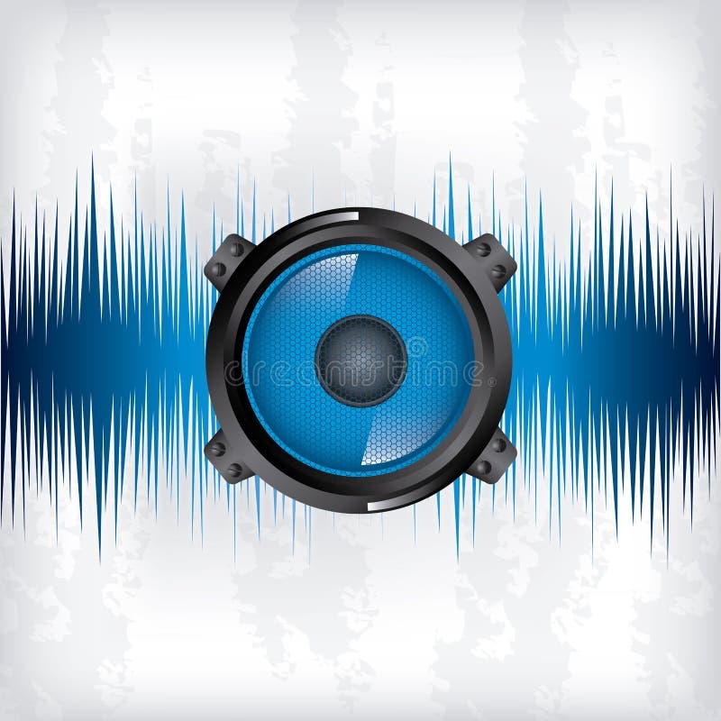 Progettazione dell'onda sonora illustrazione vettoriale