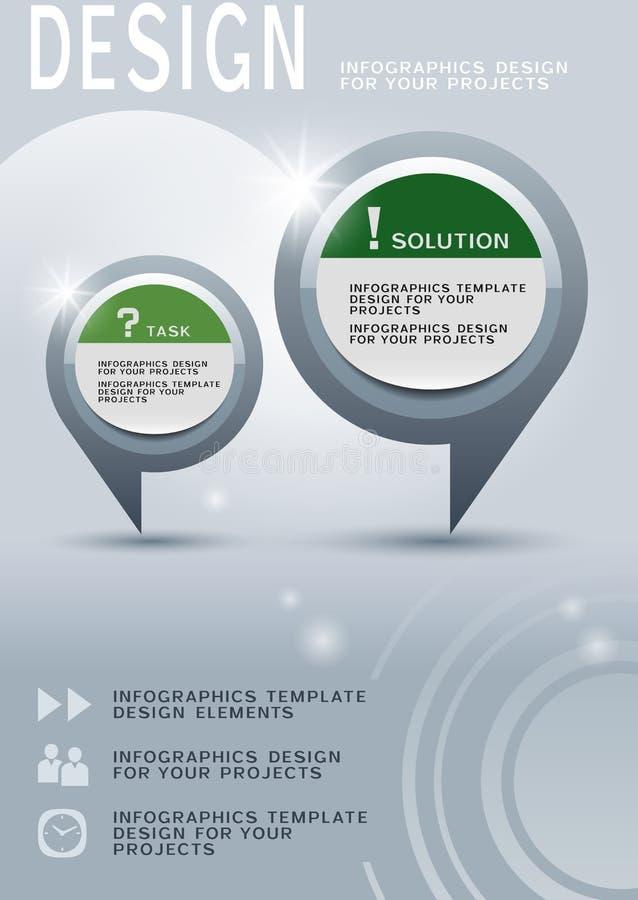 Progettazione dell'opuscolo con gli elementi infographic rotondi illustrazione vettoriale