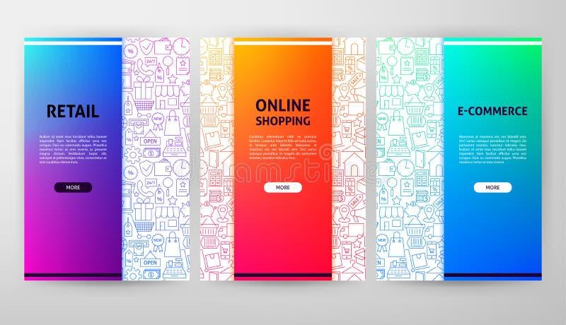 Progettazione dell'opuscolo di commercio elettronico royalty illustrazione gratis
