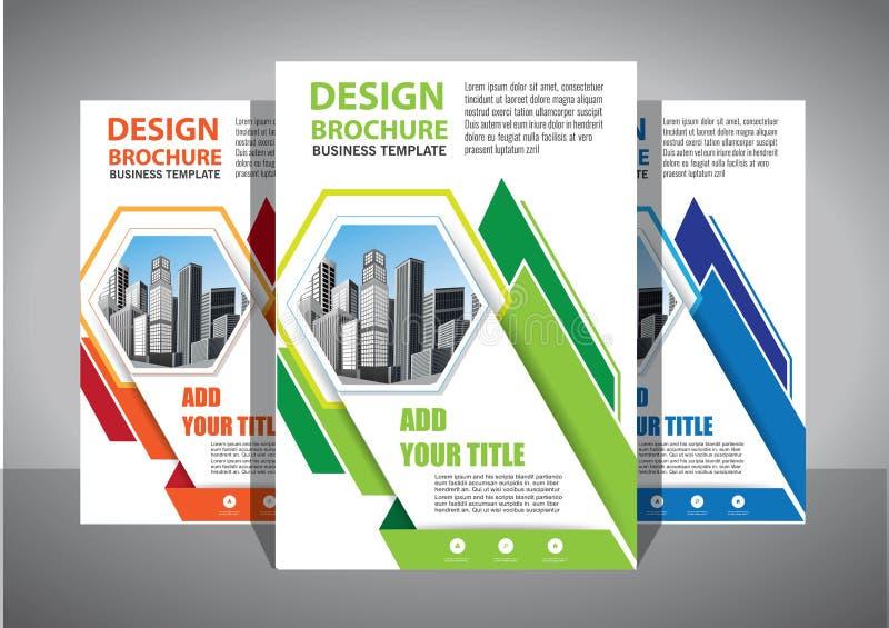 Progettazione dell'opuscolo, disposizione moderna della copertura, rapporto annuale, manifesto, aletta di filatoio in A4 con il t immagine stock
