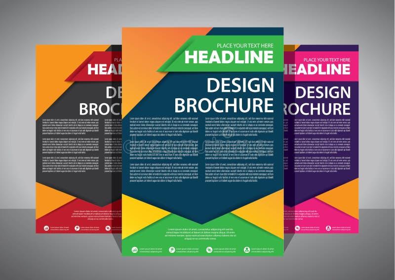 Progettazione dell'opuscolo, disposizione moderna della copertura, rapporto annuale, manifesto, aletta di filatoio in A4 con il t fotografia stock libera da diritti