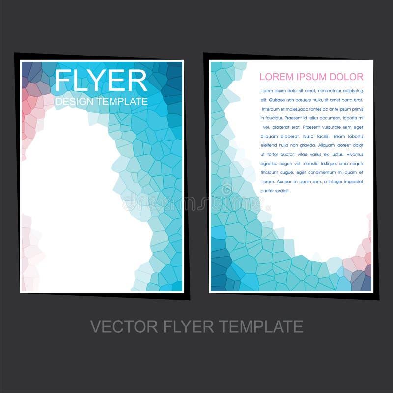 Download Progettazione Dell'opuscolo O Dell'aletta Di Filatoio Di Affari Illustrazione Vettoriale - Illustrazione di poligono, colorful: 56883135