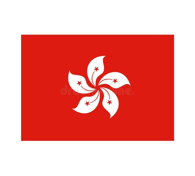 Progettazione della bandiera di Hong Kong royalty illustrazione gratis