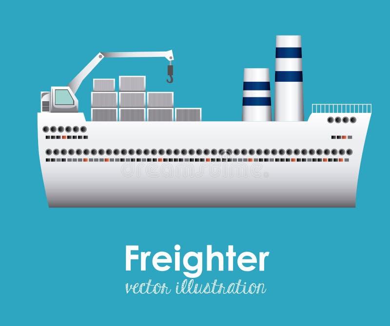 Progettazione della barca illustrazione di stock