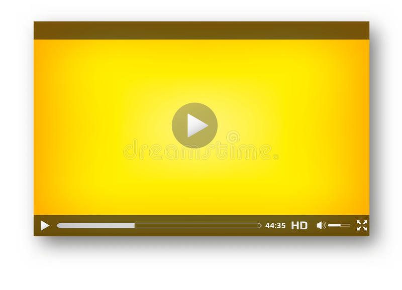 Progettazione della barra del gioco dell'interfaccia del riproduttore video illustrazione vettoriale