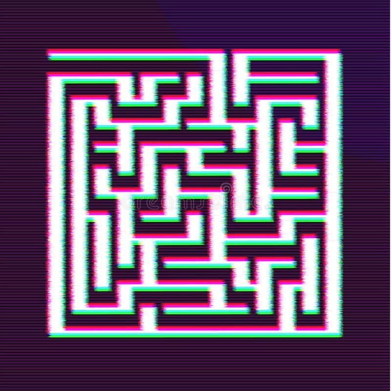 Progettazione della BG del labirinto di impulso errato Fabbricazione del concetto di decisione illustrazione vettoriale