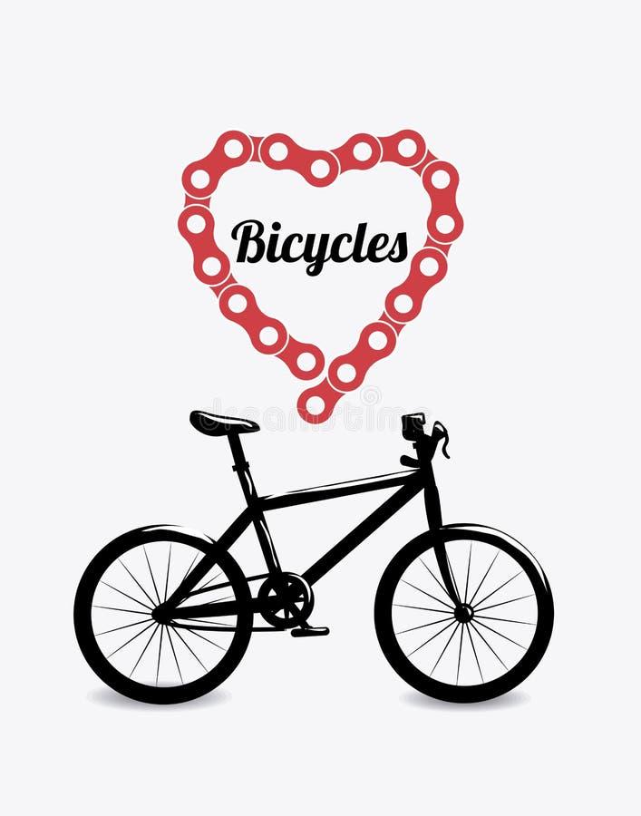 Progettazione della bici royalty illustrazione gratis