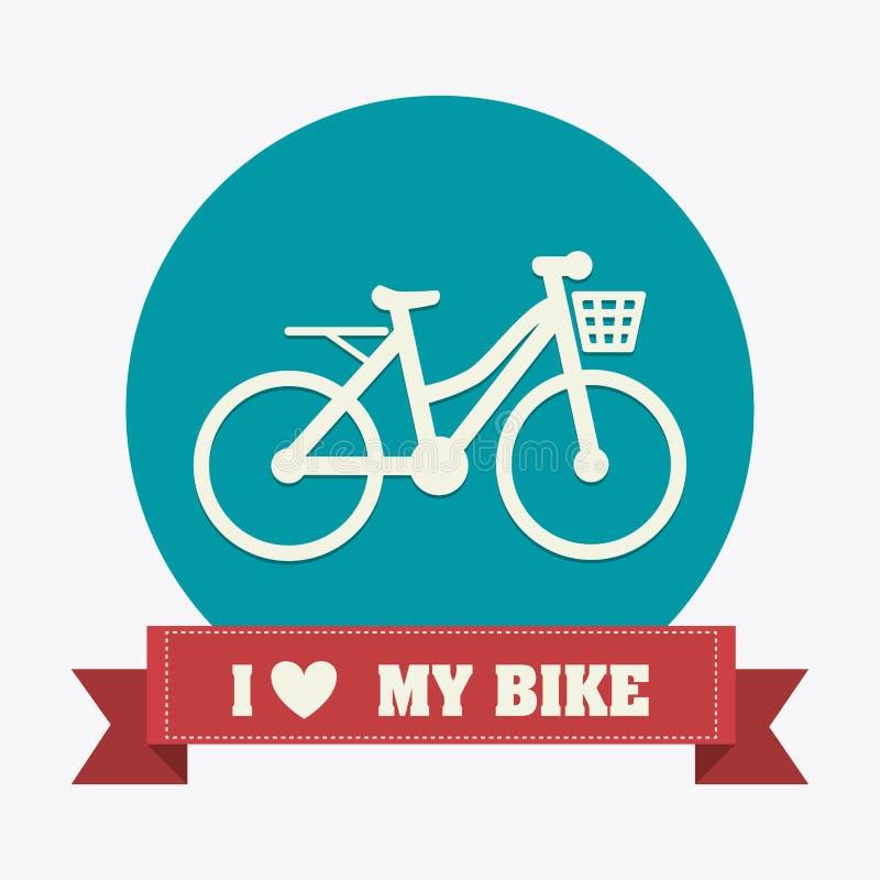 Progettazione della bici illustrazione di stock
