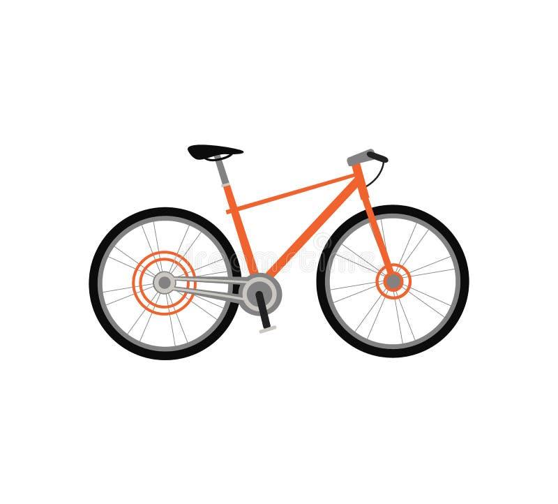 Progettazione della bicicletta piana illustrazione vettoriale