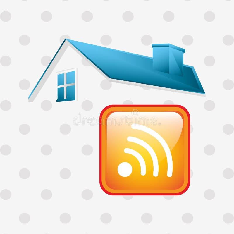 Progettazione della casa intelligente illustrazione vettoriale