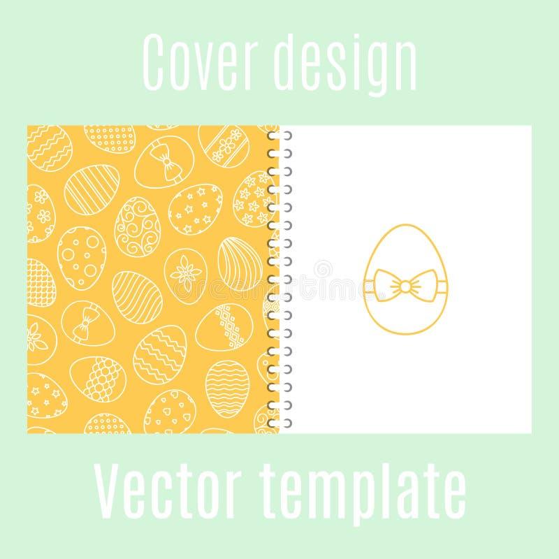 Progettazione della copertura con il modello delle uova di Pasqua illustrazione vettoriale