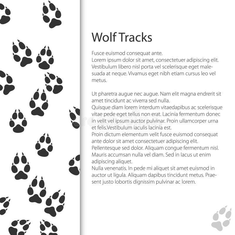 Progettazione della copertura con le tracce di Forest Animal illustrazione vettoriale