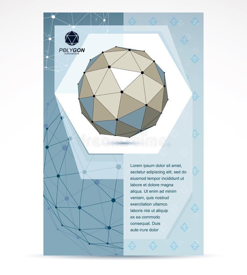 Progettazione della copertura del libretto della societ? di tecnologie di web oggetto astratto della maglia di gradazione di grig illustrazione di stock