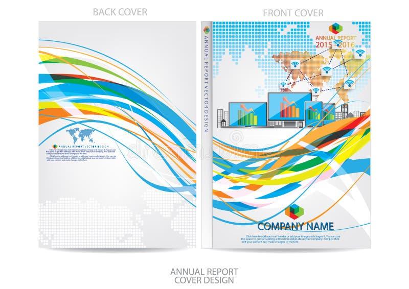 Download Progettazione Della Copertura Del Rapporto Annuale Illustrazione Vettoriale - Illustrazione di estratto, colorful: 56882503