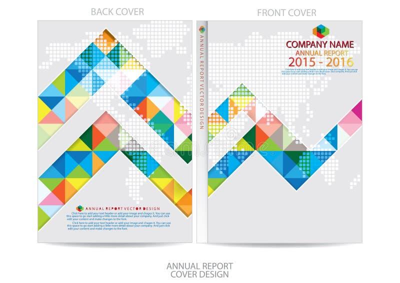 Download Progettazione Della Copertura Del Rapporto Annuale Illustrazione Vettoriale - Illustrazione di libretto, grafico: 56882839