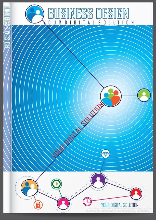 Download Progettazione Della Copertura Del Rapporto Annuale Illustrazione Vettoriale - Illustrazione di libro, vendita: 56883704