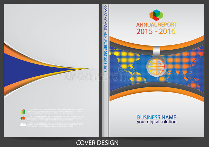 Download Progettazione Della Copertura Del Rapporto Annuale Illustrazione Vettoriale - Illustrazione di bandiera, documento: 56884028