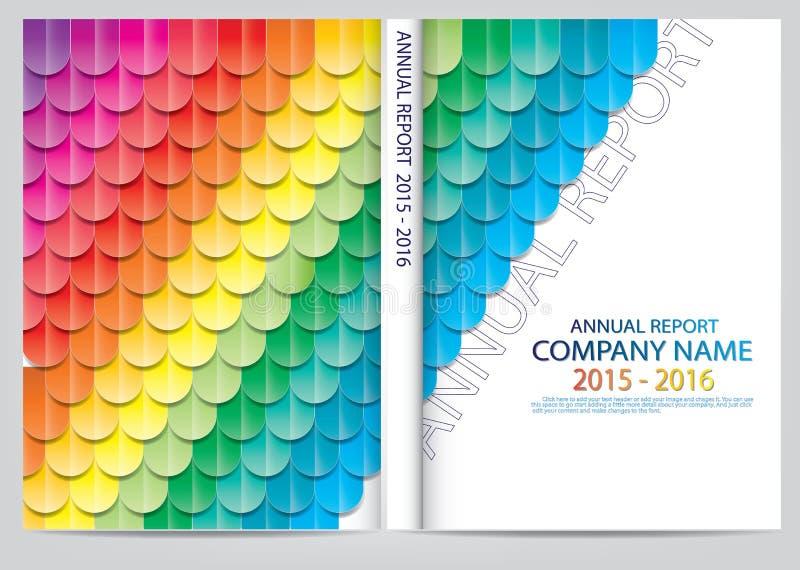 Download Progettazione Della Copertura Del Rapporto Annuale Illustrazione Vettoriale - Illustrazione di estratto, disegno: 56884688