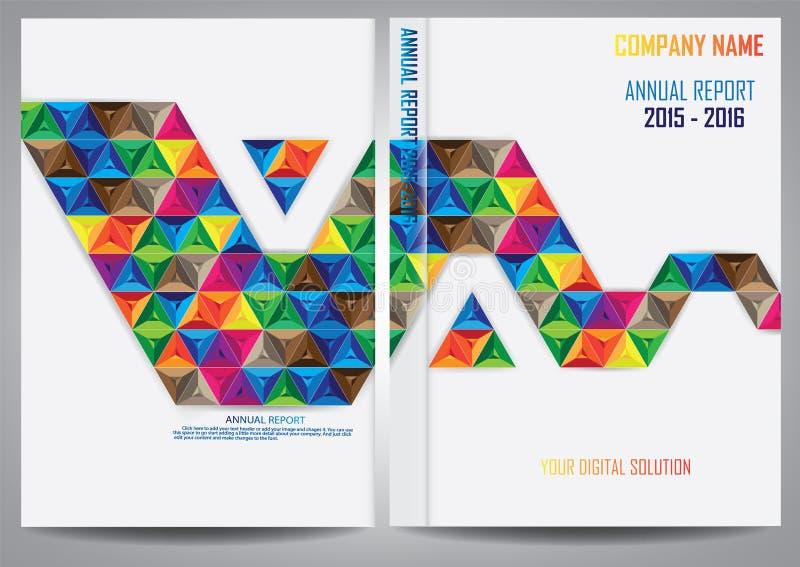 Download Progettazione Della Copertura Del Rapporto Annuale Illustrazione Vettoriale - Illustrazione di accumulazione, scomparto: 56884695