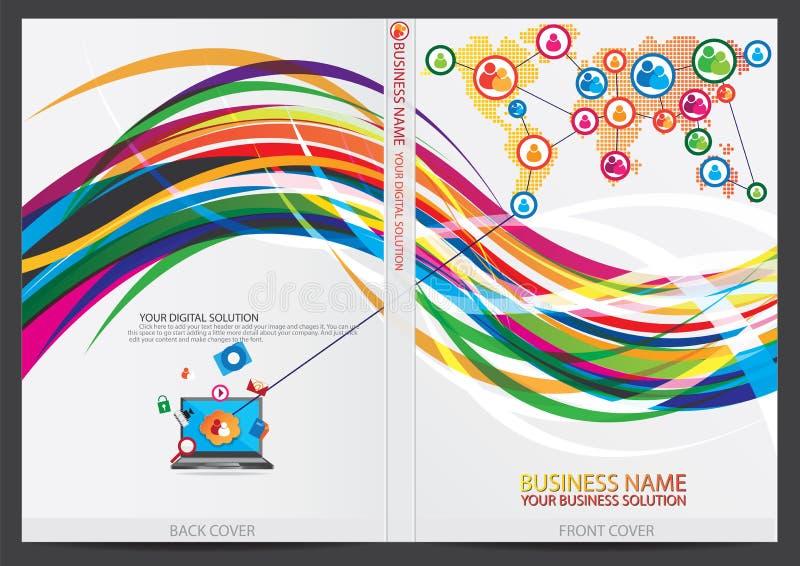 Download Progettazione Della Copertura Del Rapporto Annuale Illustrazione Vettoriale - Illustrazione di opuscolo, accumulazione: 56885022
