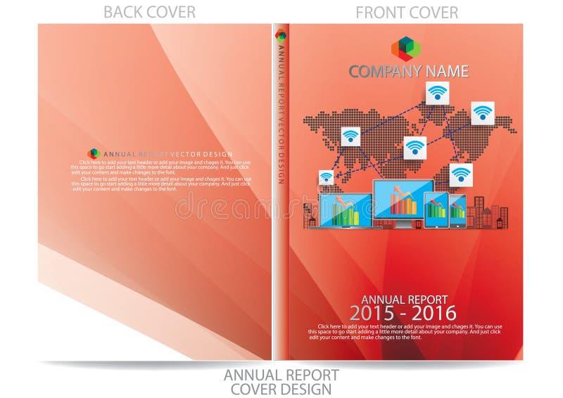 Download Progettazione Della Copertura Del Rapporto Annuale Illustrazione Vettoriale - Illustrazione di annuale, opuscolo: 56885190