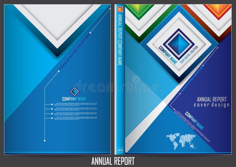 Download Progettazione Della Copertura Del Rapporto Annuale Illustrazione Vettoriale - Illustrazione di libretto, colore: 56885533