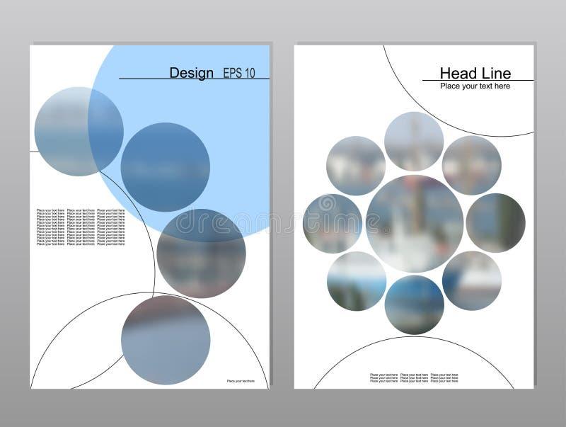 Progettazione della copertura dell'opuscolo illustrazione di stock