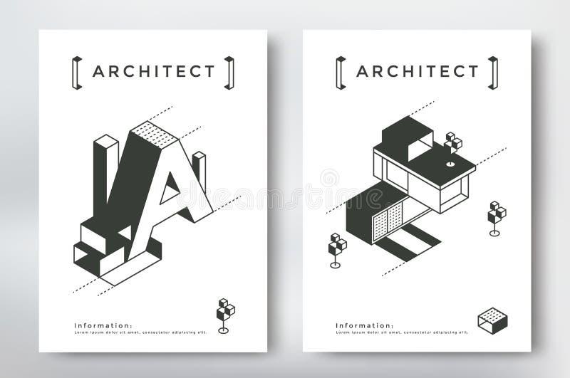 Progettazione della copertura di architettura illustrazione vettoriale