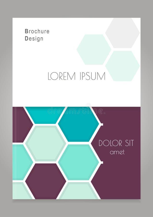 Progettazione della copertura per l'aletta di filatoio dell'opuscolo dell'opuscolo Copertura creativa per il catalogo, rapporto,  illustrazione di stock