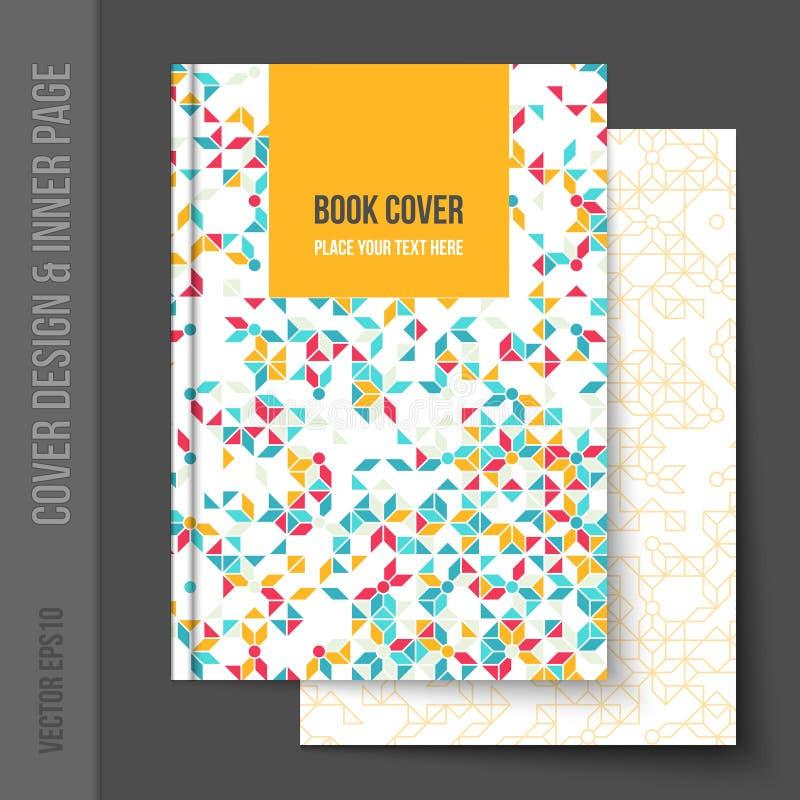 Progettazione della copertura per l'opuscolo di affari, rapporto annuale illustrazione vettoriale