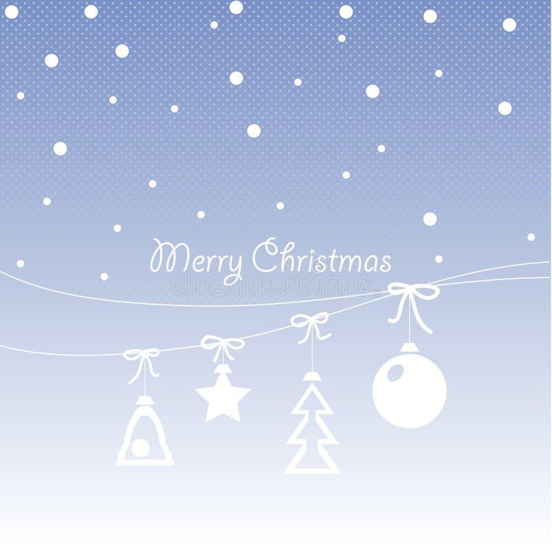 Progettazione della copertura per le cartoline d'auguri di Natale illustrazione vettoriale