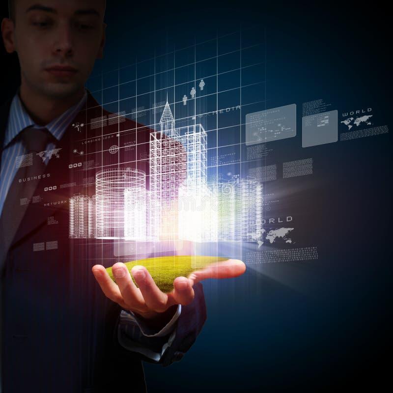Disegno della costruzione di automatizzazione di ingegneria illustrazione di stock
