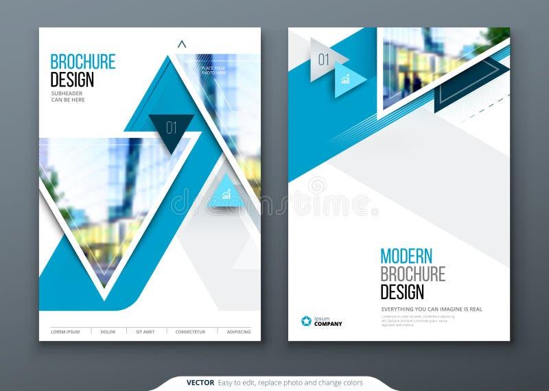 Progettazione della disposizione del modello dell'opuscolo Rapporto annuale di affari corporativi, catalogo, rivista, modello del royalty illustrazione gratis