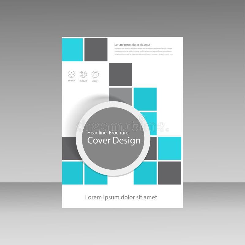 Progettazione della disposizione della copertina di libro, modelli astratti dell'aletta di filatoio con il quadrato royalty illustrazione gratis