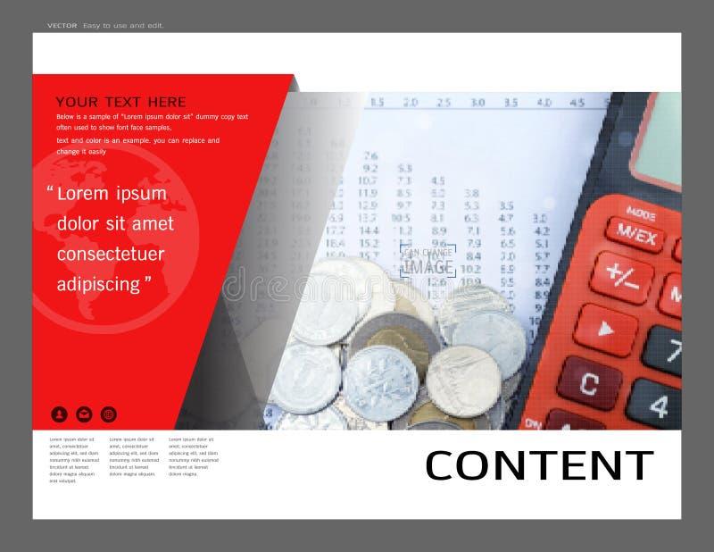 Progettazione della disposizione di presentazione per il modello finanziario della copertina, fondo moderno di vettore astratto illustrazione di stock