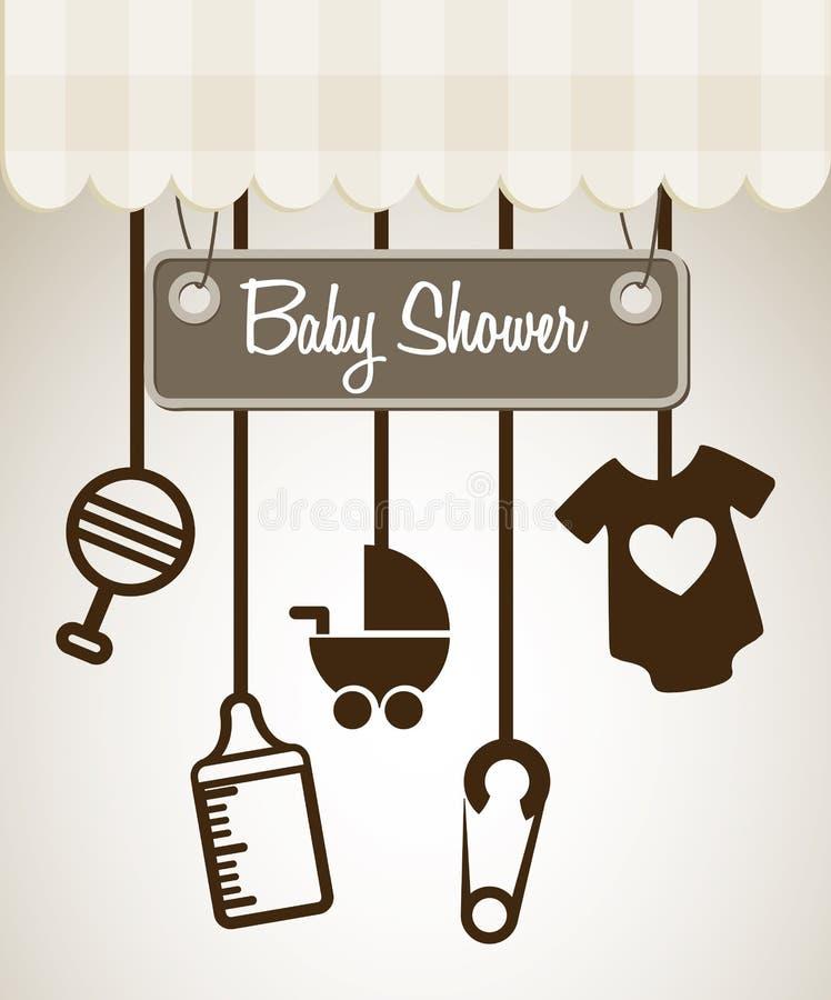 Progettazione della doccia di bambino illustrazione vettoriale