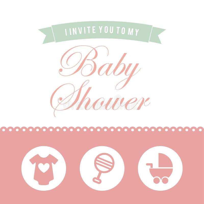 Progettazione della doccia di bambino royalty illustrazione gratis