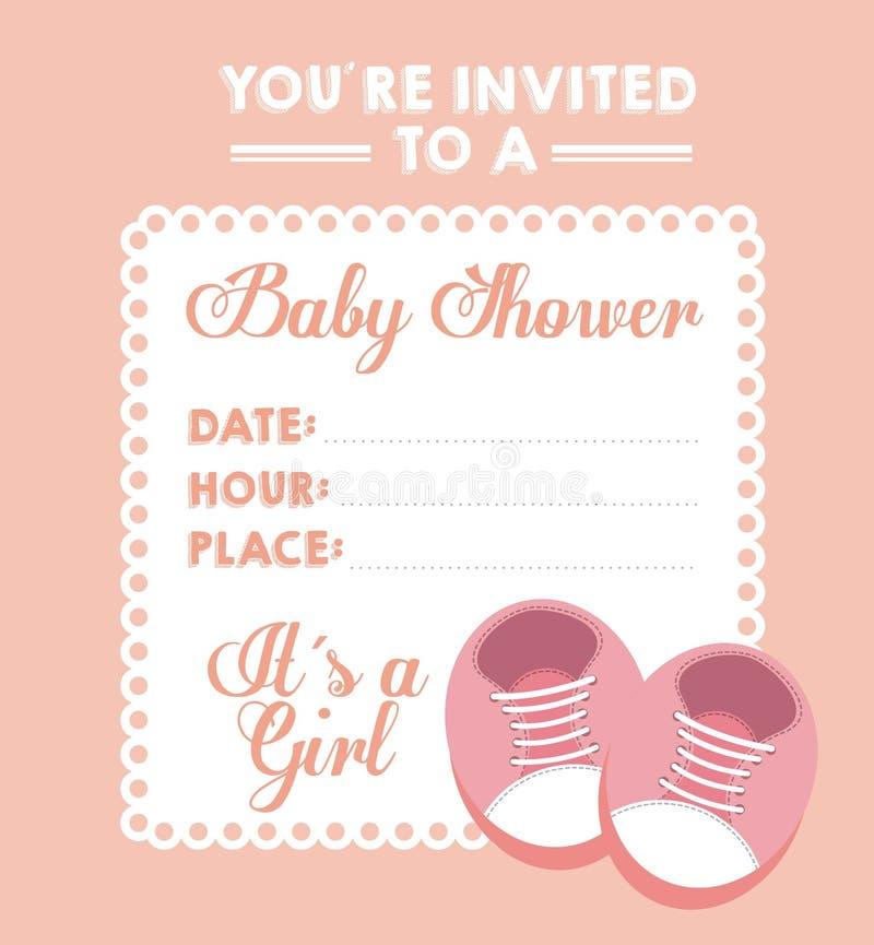 Progettazione della doccia di bambino illustrazione di stock