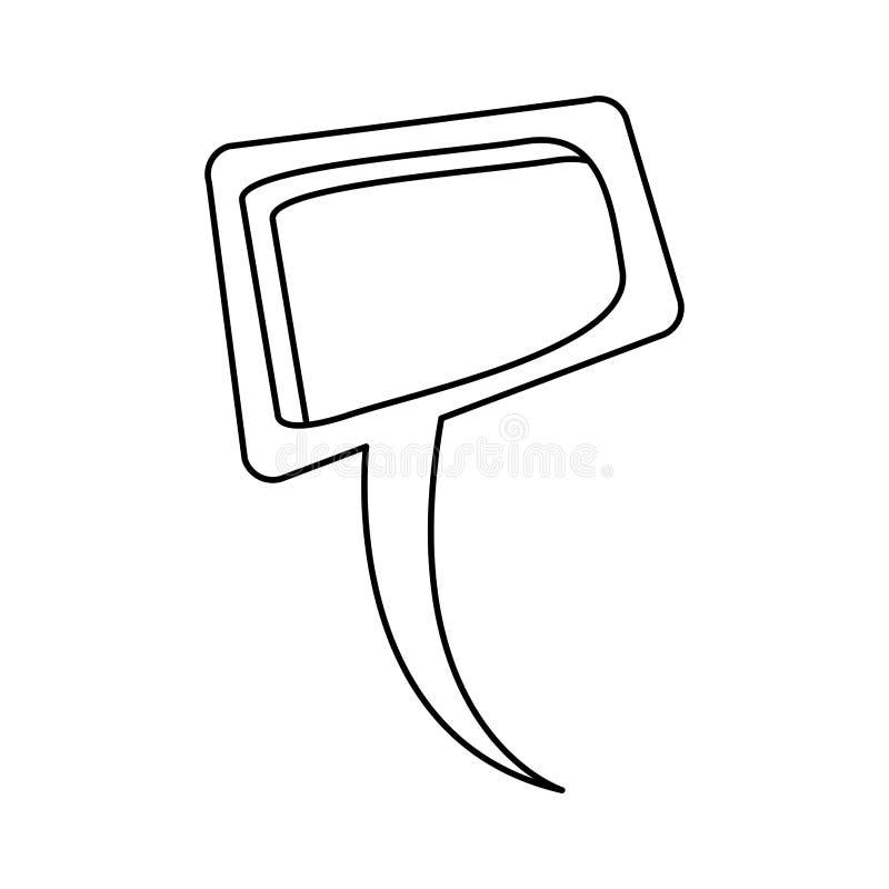 progettazione della finestra di dialogo del quadrato di sollievo della siluetta illustrazione di stock