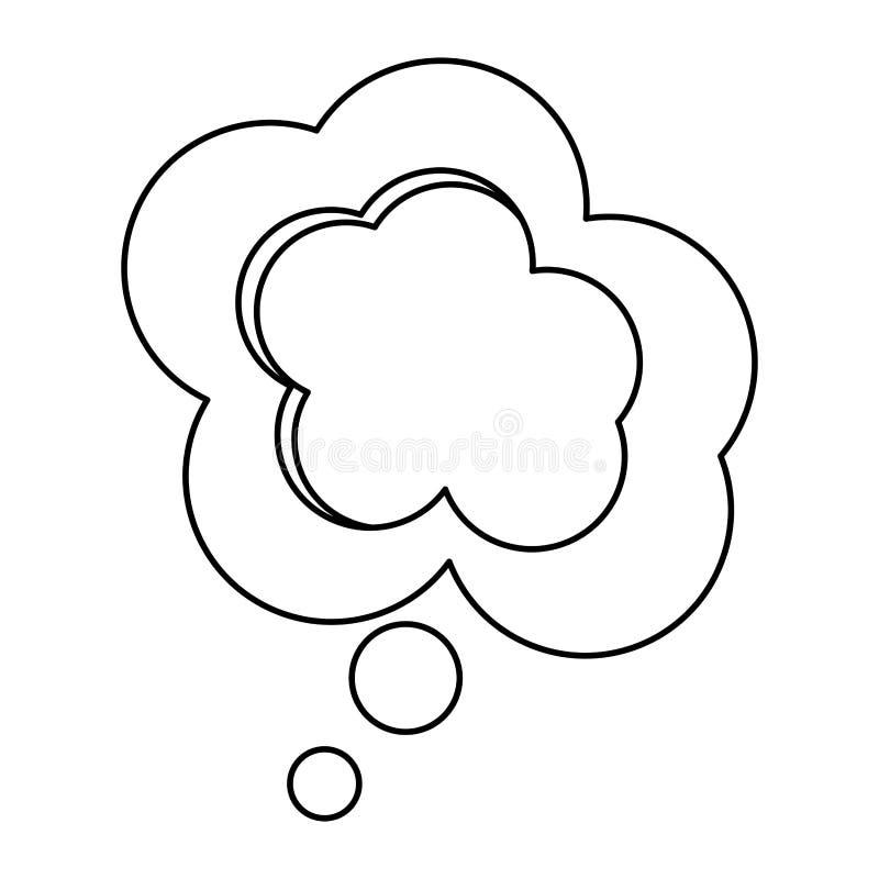 progettazione della finestra di dialogo della nuvola di sollievo della siluetta illustrazione di stock
